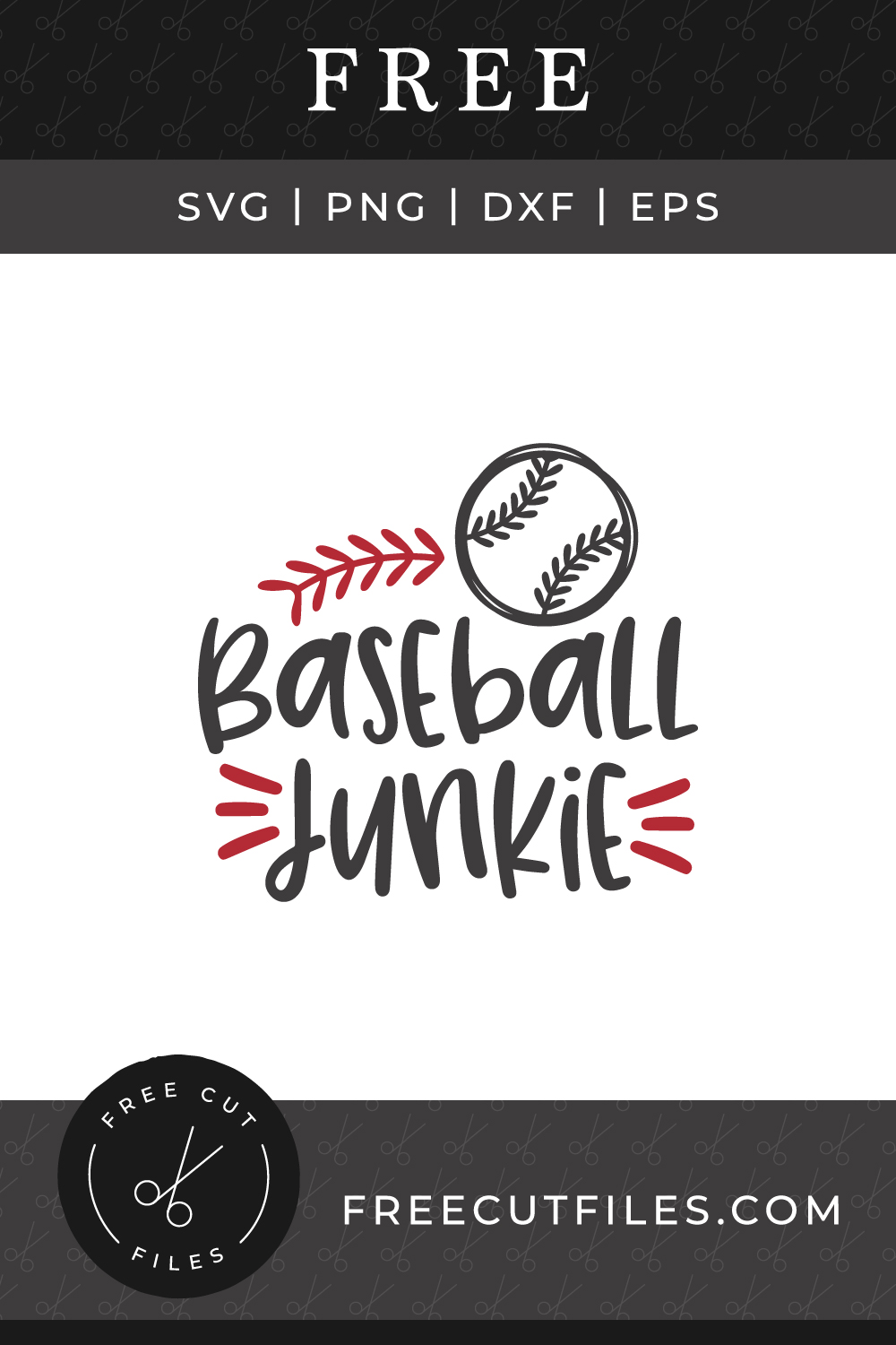 Baseball junkie Free SVG quote