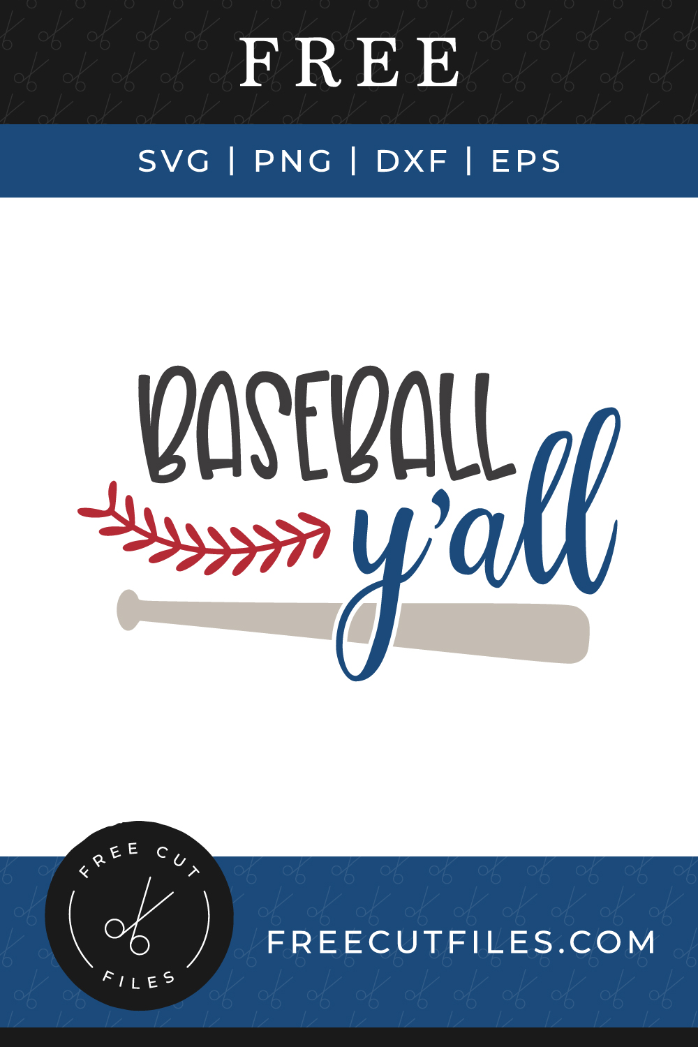 Baseball Y'all Free SVG cut file quote