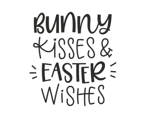 Free Bunny Kisses and Easter Wishes SVG