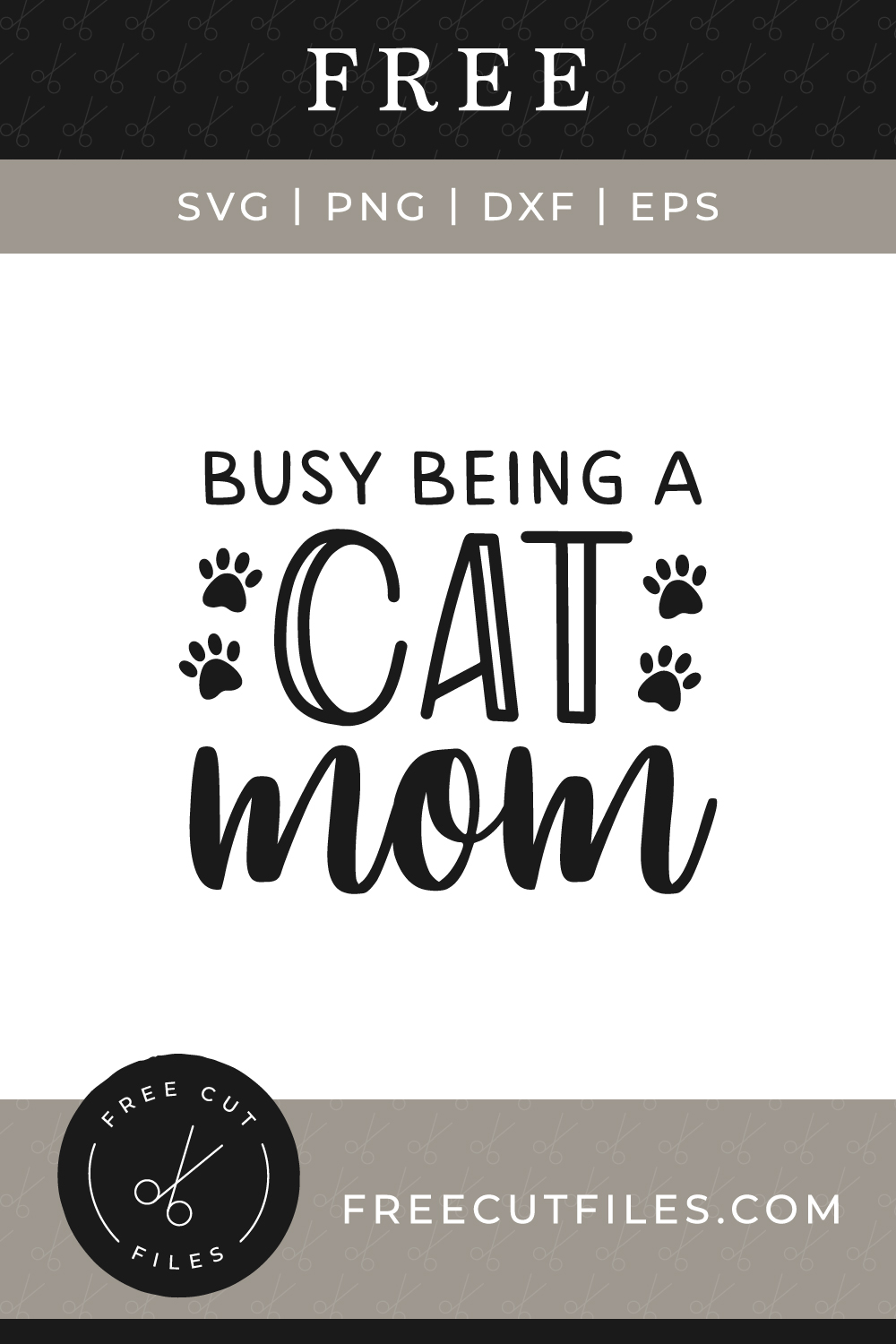 Free Busy being a cat mom svg