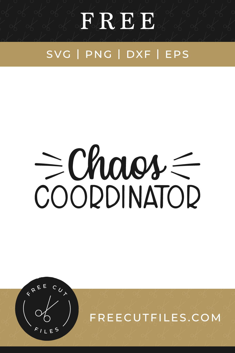 Chaos Coordinator - Free SVG cut file quote
