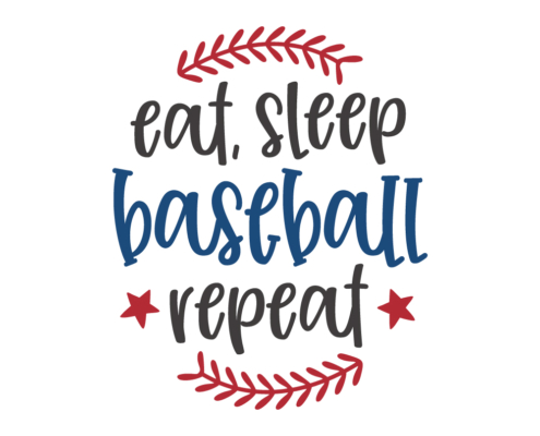 Eat, Sleep Baseball Repeat Free SVG baseball cut file