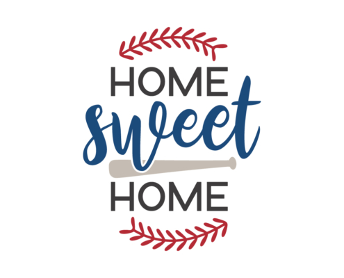 Home Sweet Home Free SVG baseball quote cut file