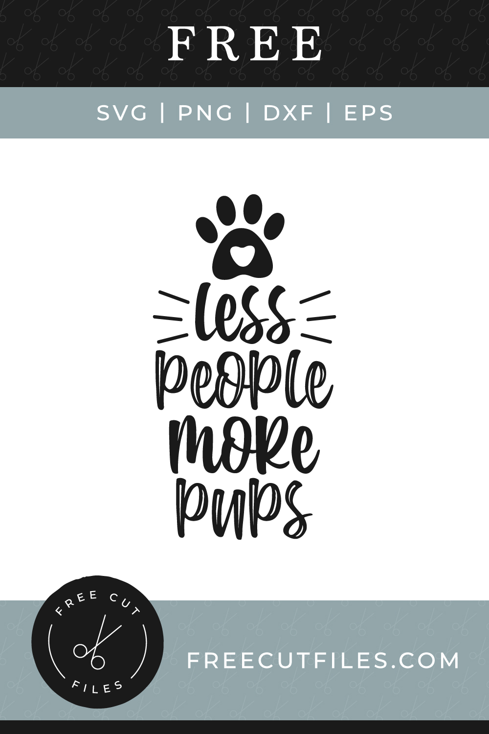Free Less people more pups SVG