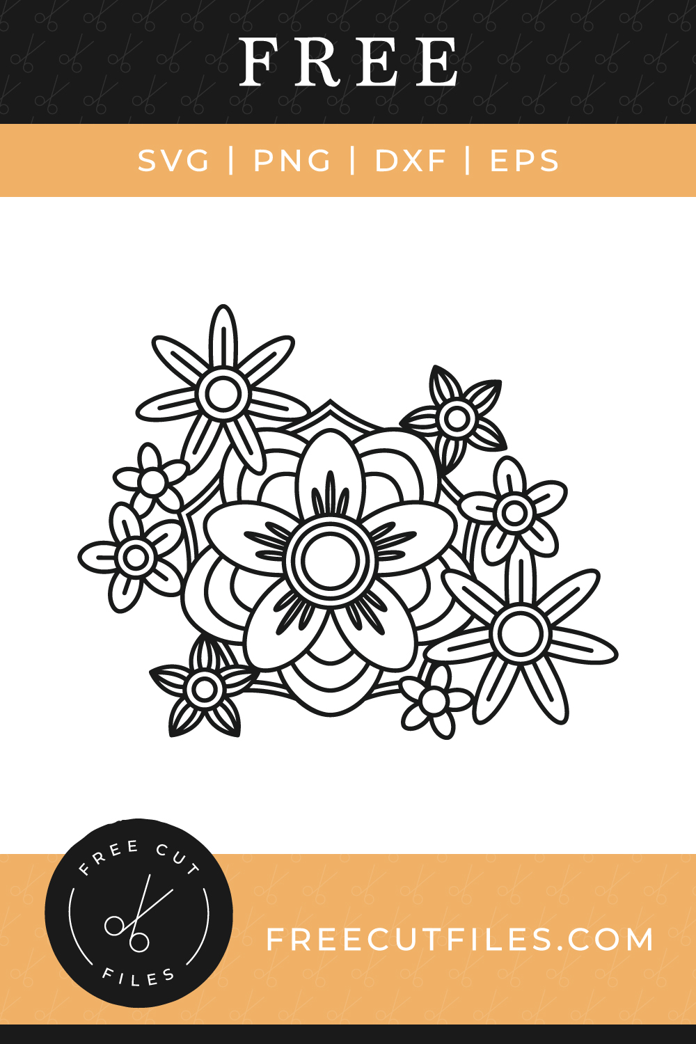 Free Outline Flowers SVG