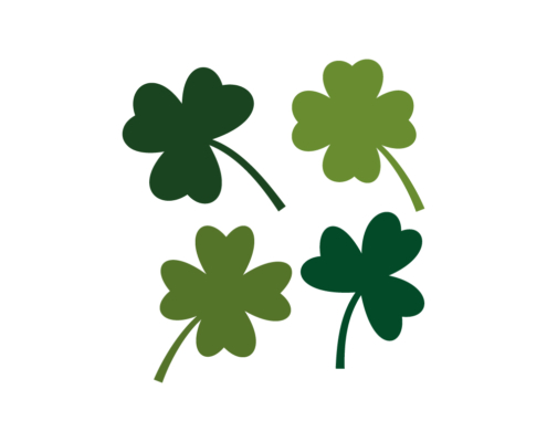 Free Three and Four leaf Clovers SVG
