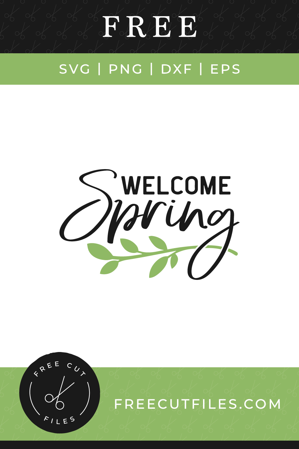Welcome Spring Free SVG cut file