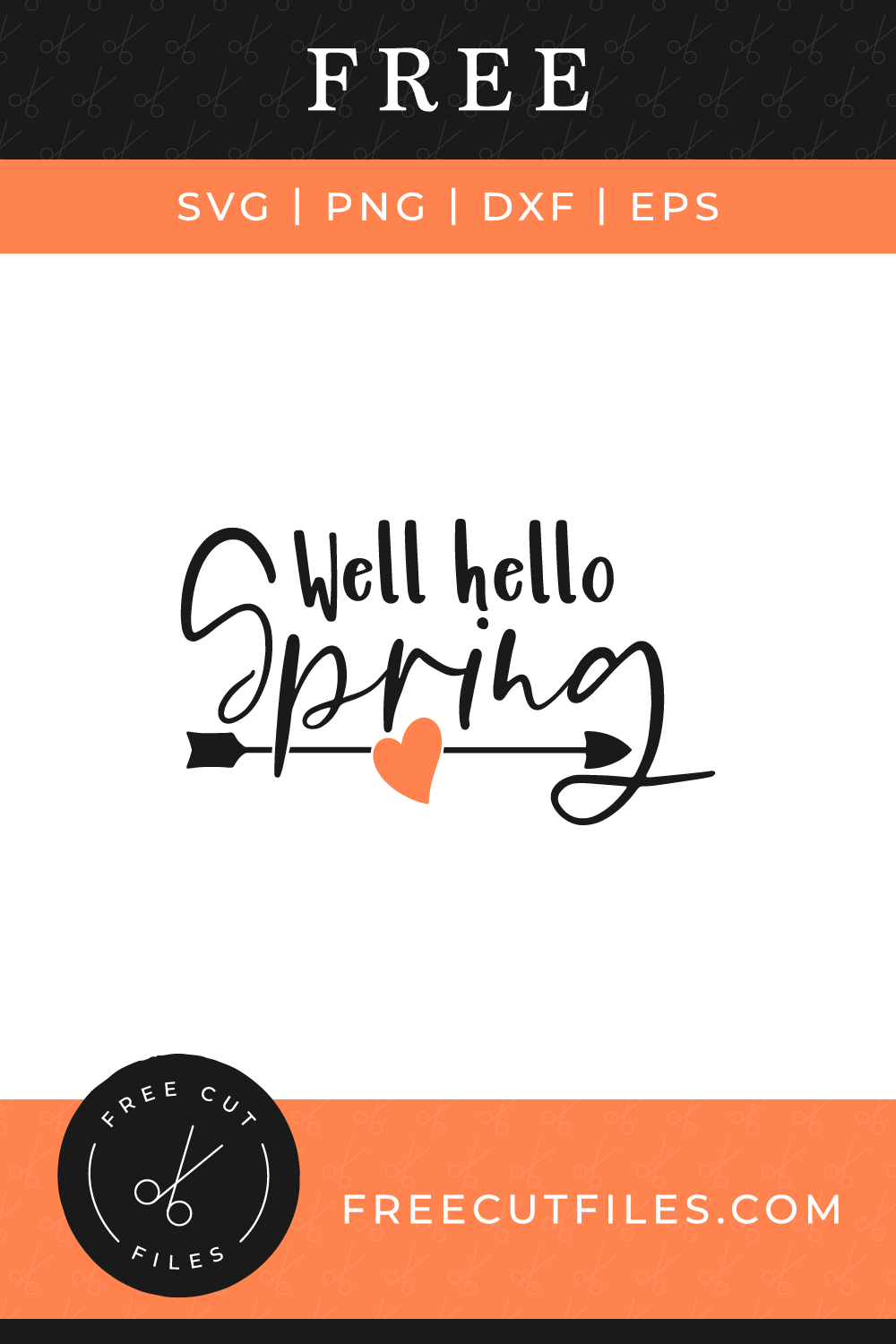 Well Hello Spring quote free SVG cut file
