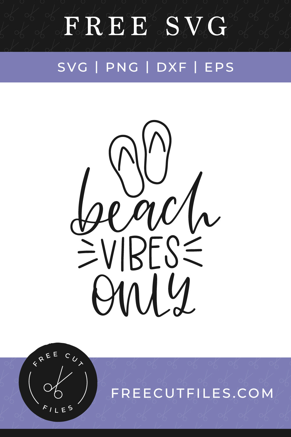 Beach vibes only   Free SVG file