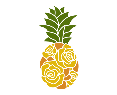 Free Floral pineapple SVG