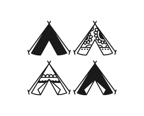 Free Camping tents SVG