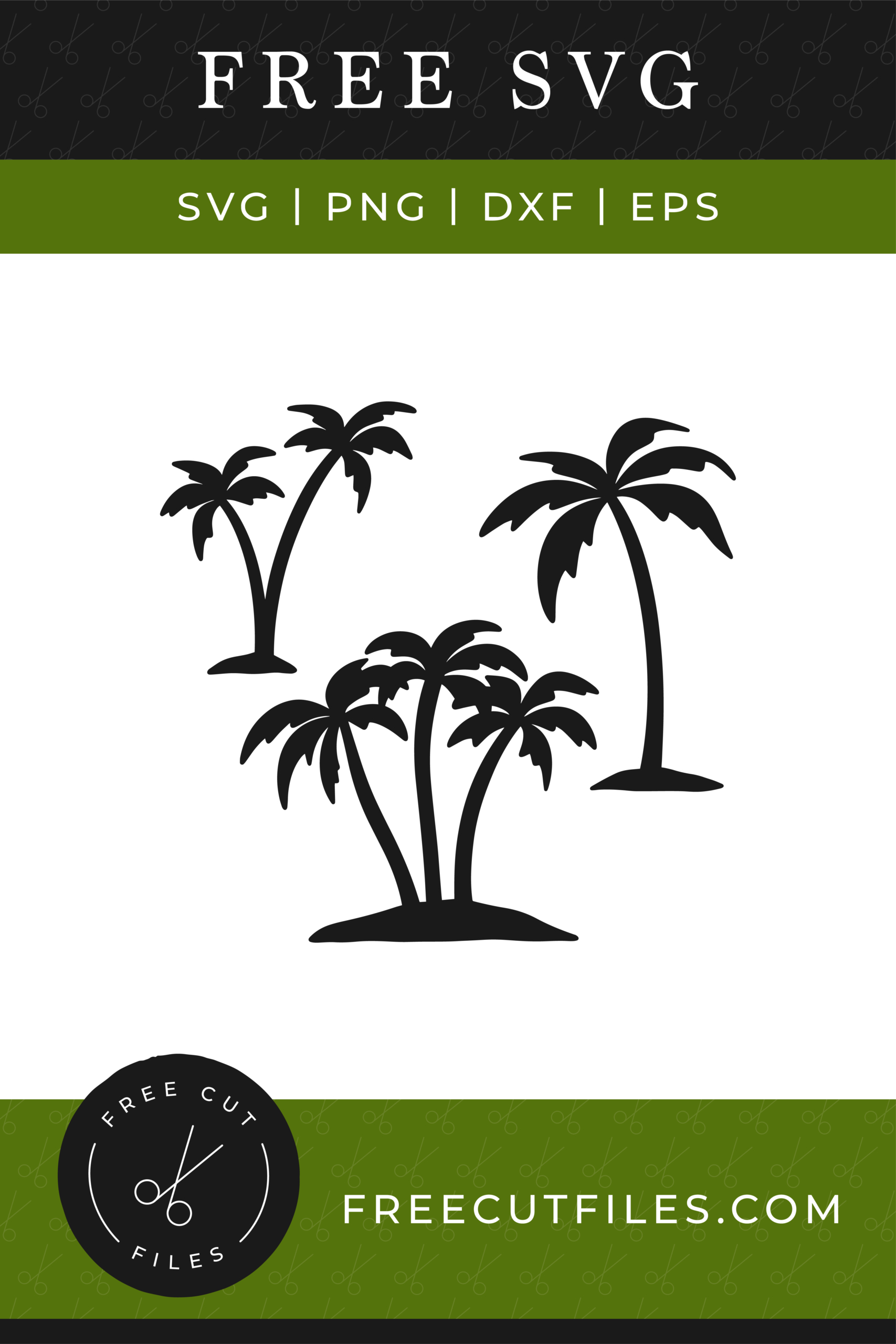 Free Silhouette of palm trees SVG