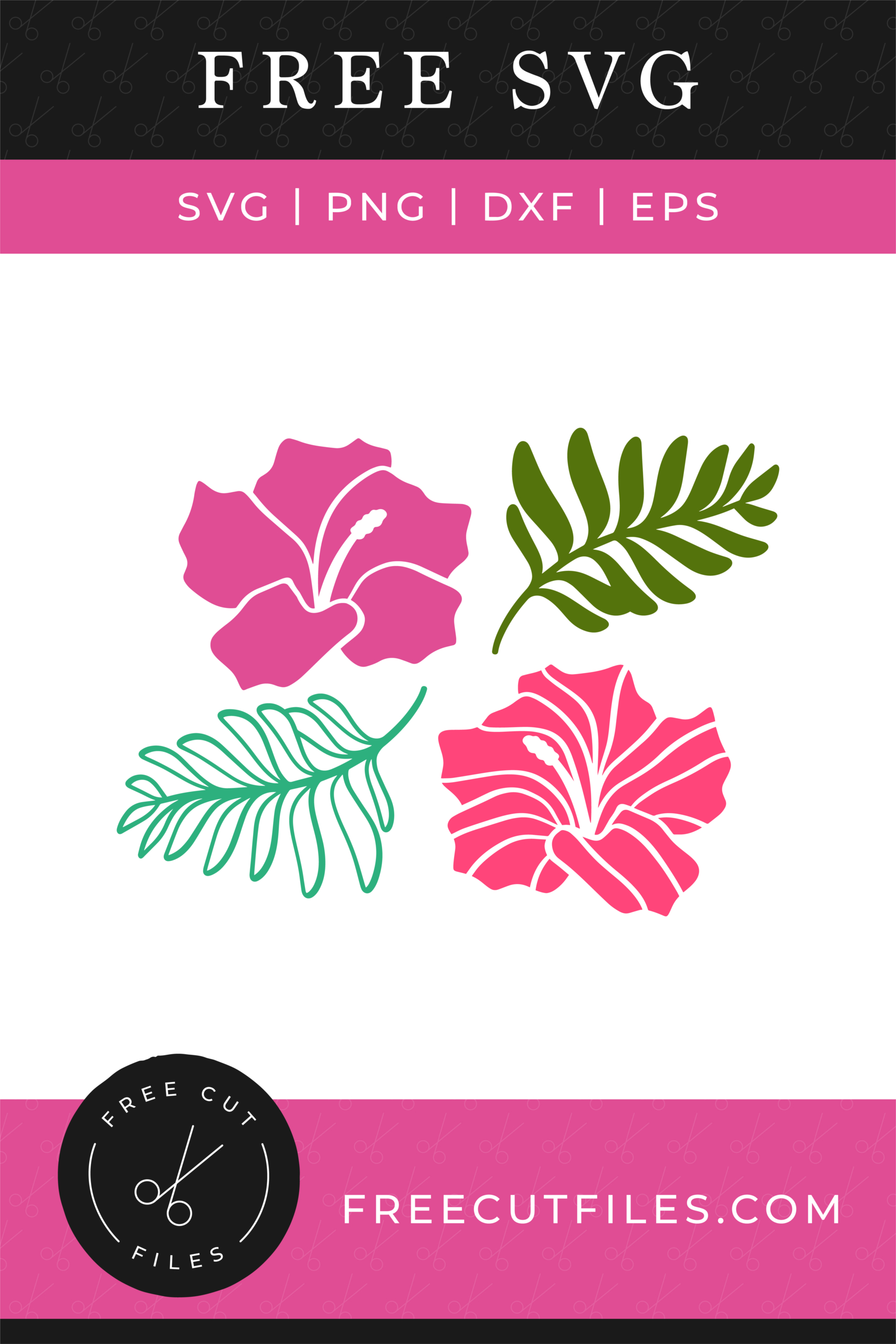 Free Tropical flowers SVG