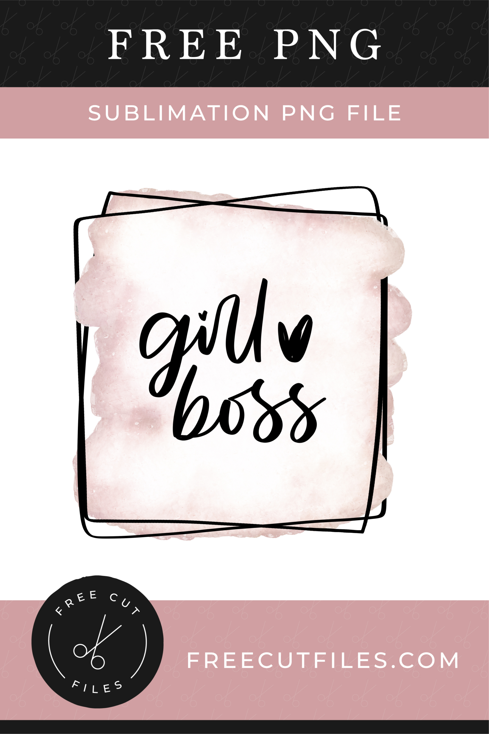 Girl Boss - Free Sublimation design PNG File