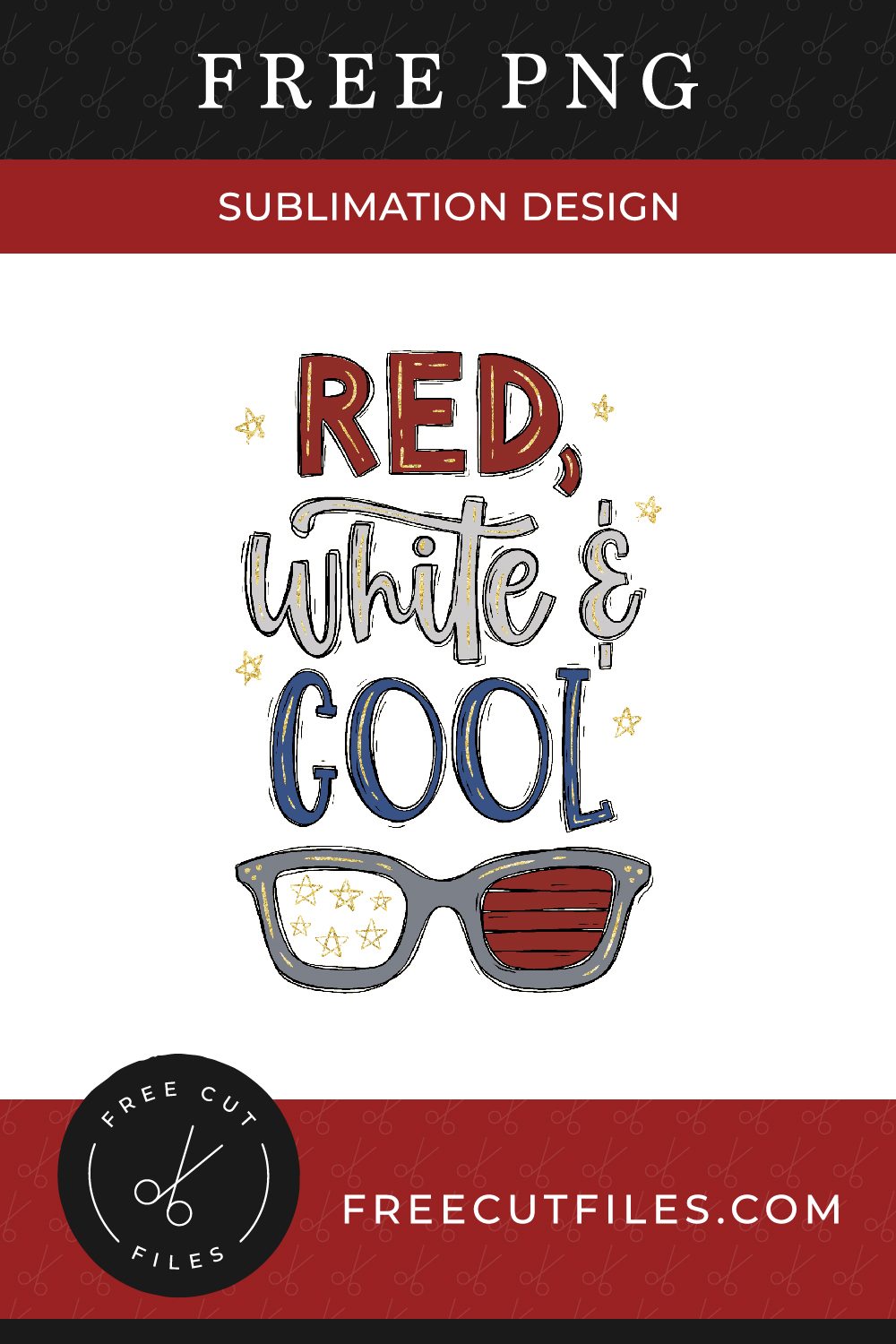 Red, white & Cool - Free Sublimation Design PNG file