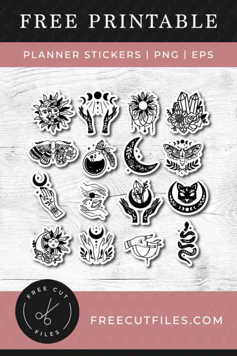 Mystical Printable Stickers